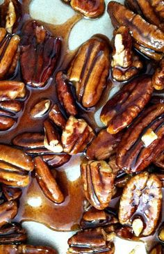 How to make candied pecans. Use these for snacking or cocktail parties!