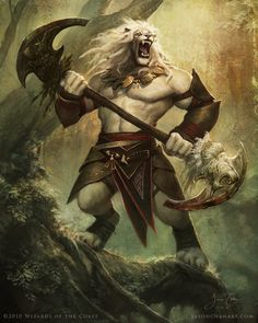 "Jason Chan - ""Ajani Vengeant"" TCG Magic card for Wizards of the Coast"