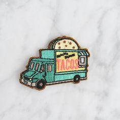 Taco Food Truck Patch  opstrijkbare door WildflowerandCompany