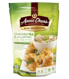 A great thing about these adorably-sized, flavorful appetizers: you can boil or pan-fry them, freeing up the oven. Annie Chun's Chicken & Cilantro Mini Wontons, $3.99 for 24; AnnieChun.com.   - WomansDay.com