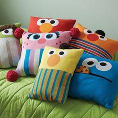 Sesame Street Bert Knit Throw Pillow | The Land of Nod