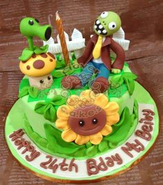 Plants vs Zombies cake foodeez Pinterest Plants vs zombies