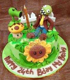 plants vs zombies birthday cake - Google Search