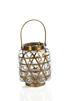 Bubble Basket Lantern - Clear - Small - CARLYLE AVENUE - 2