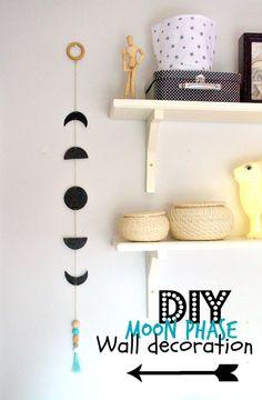 nostalgiecat: Moon phase wall decoration DIY