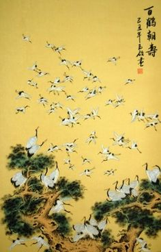 In Chinese culture, the crane is a popular bird symbol of good fortune ...