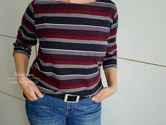[ probenähen ] Jerseyshirt mit Uboot-Ausschnitt von lillesol women No.22