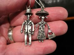 Mexican sterling silver earrings by blue jaguar jewelry for Day of the dead body jewelry