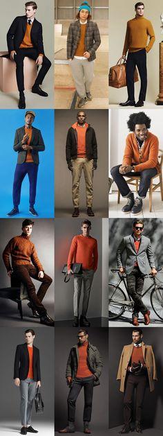 3 Ways To Wear 2014's Winter Orange Trend: 3. Knitwear Lookbook Inspiration