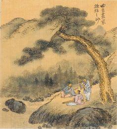 (Korea) 實境, 1749 사공도시품첩 by Gyeomjae Jeong Seon. color on silk. National Museum of Korea.