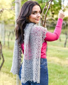 💞 Beautiful, swirling, textured fabric with knockout edging that is sure to grab attention and second glances at every turn…  When you're wearing the Isadora you'll feel like you're wearing art, not just a scarf! Lace Knitting Patterns, Fingering Yarn, Lace Scarf, Stockinette, Hand Dyed Yarn, Ruffle Blouse, Yarns, Damask, Shadows