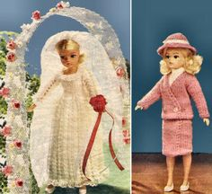 Sindy Doll Wedding Dress & Outfit Vintage Knitting Pattern for download