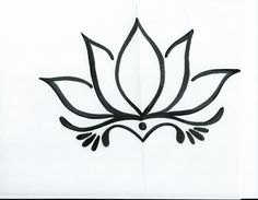 Simple Lotus Flower Drawing Tattoo Tattoo ideas pinterest