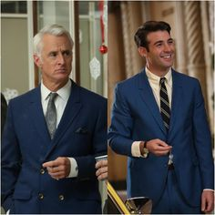 The famed Mad Men blue suit!