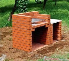 New Backyard Brick Patio Pizza Ovens Ideas Grill Gazebo, Patio Grill, Backyard Patio, Bbq Grill, Brick Grill, Brick Oven Outdoor, Barbecue Design, Grill Design, Garden Fountains For Sale