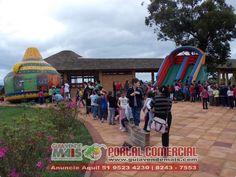 Brinquedos infláveis integram a programação da 9ª Semana da Água de Osório