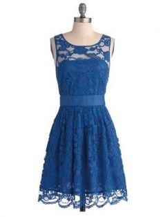 royal blue lace hollow off shoulder short bridesmaid dress   Cheap mini length Sale
