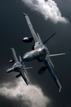 Beautiful site, a pair of F-18C's over the ocean... Ross.
