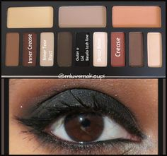 Brown and Black Smokey Eye Ft. Kat Von D Shade and Light Eye Contour Palette