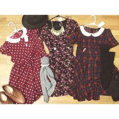 Peter pan collar dresses. Fall dresses