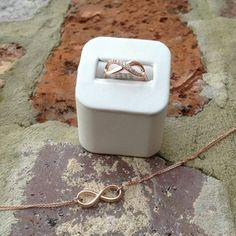 Cute infinite ring and necklace♥