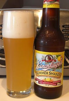 Leinenkugel's Summer Shandy...delicious with White Chili. The Orange Shandy tastes pretty delish, too! ;-)