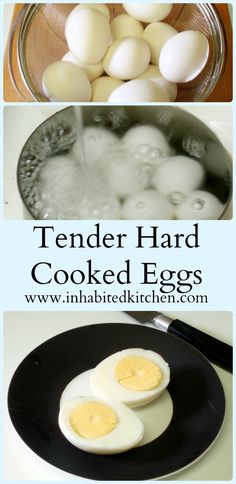 Tender hard cooked eggs (not boiled!) are easy to make - for Easter Eggs, stuffed eggs, or just to have on hand for a quick meal!
