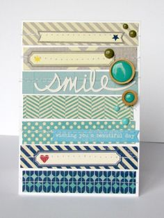 Smile card by nicolenowosad at @studio_calico