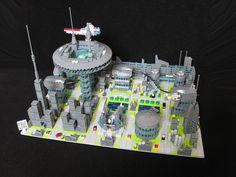 #LEGO Micro City.  I like the colors.  Very nice build.
