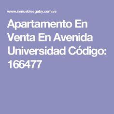 Apartamento En Venta En Avenida Universidad Código: 166477