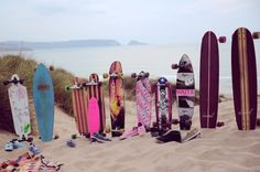 two of my favorite things... Longboards and the beach!!:)