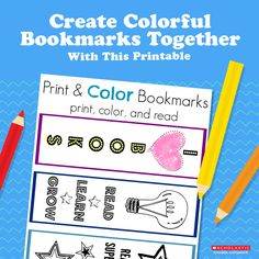 Spice up story time for your young reader with these bookmarks colored any way he likes.