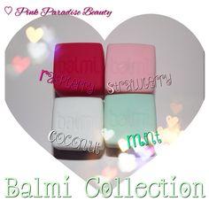 Balmi Lip Balms in Strawberry, Mint, Coconut & Raspberry