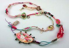 Collana bijoux textile