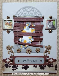 Naughty Kitty card by D'Ann   Naughty Newton stamp set by Newton's Nook Designs #newtonsnook