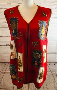 ae666c311ff9 Extra Off Coupon So Cheap Heirloom Collectibles Womens Plus Size Red  Novelty Christmas Sweater Vest