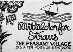 Mitteldorfer Straus The Peasant Village 245 fifth Avenue NEW YORK