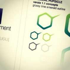 Concept logo design 'Chemical Popsicle' v1.1 #logo #graphicdesign #hexagon  by: E.R.P. Elschott (Avenue '86 - creative design workshop)