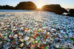 glass beach, mendocino county