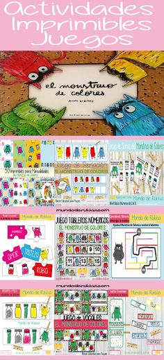 monstruo de colores, monstruo de colores actividades, monstruo de colores juegos, monstruo de colores cuento, monstruo de colores manualidades, the color monster, the colour monster, educacion emocional, inteligencia emocional Monster Activities, Feelings Activities, Book Activities, Printable Activities For Kids, Infant Activities, Feelings Book, Monster Book Of Monsters, Bilingual Education, Preschool Curriculum