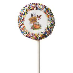 Happy Haunting Chocolate Dipped Oreo Pop - halloween decor diy cyo personalize unique party