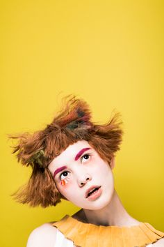 ** PERSONALITY. - hair shapes, colours in hair and brows, expression + clothing. KHA 2014