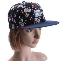 High-quality Men Women Floral Flower Adjustable Snapback Baseball Hats Flat Hip Hop Cap - NewChic