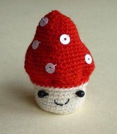 Champignon amigurumi crochet