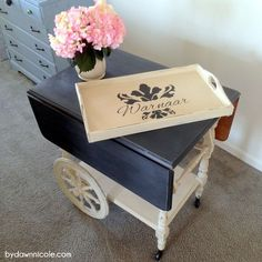 My husband searches Craigslist like I search the aisles of the craft store (far. He came across this adorable Tea Cart from a couple looking to make…