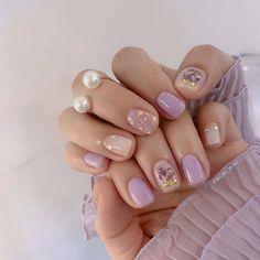 korean nail art # # # # # # # # # # by - , Chic Nails, Stylish Nails, Swag Nails, Shellac Nails, Nail Manicure, Matte Nails, Kawaii Nails, Minimalist Nails, Best Acrylic Nails