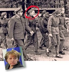 Angela Merkel walking next to a Deutsches Rotes Kreuz der DDR officer. Poland Ww2, Visit Poland, German Uniforms, Holocaust Survivors, East Germany, Interesting History, Dear God, World History, Military History