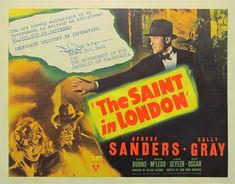 """This RKO Saint series with George Sanders are solid  little mysteries and dandy who done it's. They are cheap short programmers, mysteries with Charlie Chan, Mr Moto, Micheal Shayne, and Sherlock Holmes were popular box office winners in the 30's and 40's. This Saint film was all  shot on location in and around London, weeks before the blitz left much of that city in ruins. A fascinating bit of history wound through a story of international intrigue with """"TRANSVANIA"""" not Nazi Germany. Charlie Chan, The Blitz, Box Office, The Republic, Sherlock Holmes, Dandy, Good Movies, I Movie, Mystery"""