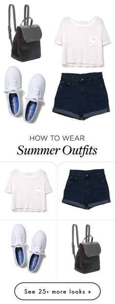 """Summer outfit"" by liza-ionova on Polyvore featuring MANGO, Keds and…"