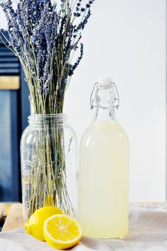Tasty Treats: Lavender Lemonade | lark. We always have way more lavender than I know what to do with every year. I love lavender lemonade (: